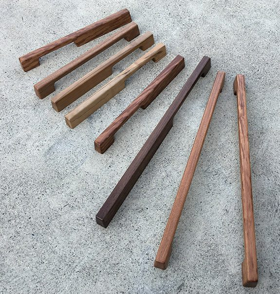 Tirar wood handles from Opitome are available in 5 finishes